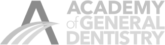 Academy of General Dentistry logo in gray