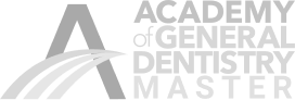Academy of General Dentistry Master logo in gray