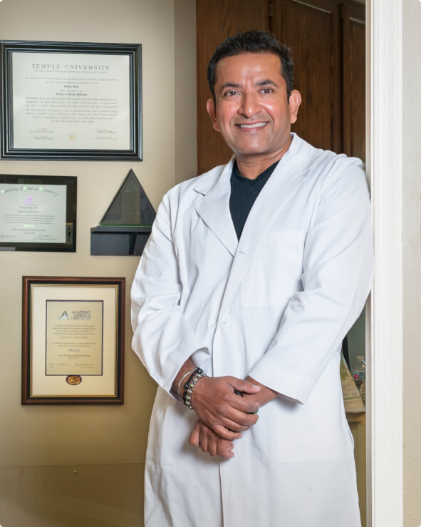 Dr. Syed, family, cosmetic, and implant dentist in Wilmington, Delaware