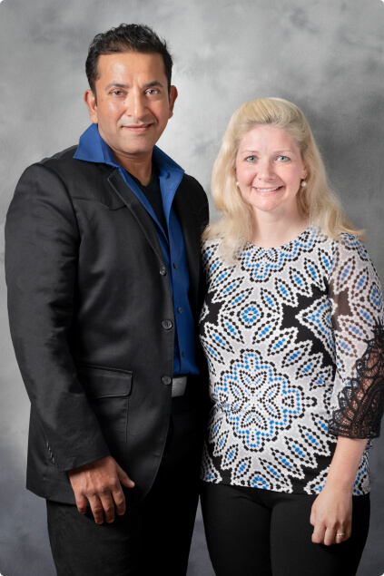 Dr. Syed and Dawn, office manager